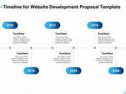 Timeline For Website Development Proposal Template Ppt Powerpoint Presentation Summary