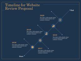 Timeline For Website Review Proposal Start Ppt File Format Ideas