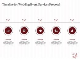 Timeline For Wedding Event Services Proposal Ppt Powerpoint Presentation Examples