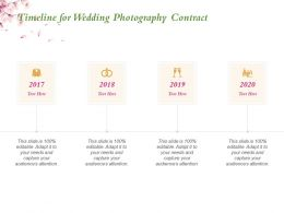 Timeline For Wedding Photography Contract Ppt Powerpoint Presentation Example 2015