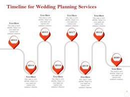 Timeline For Wedding Planning Services Ppt Powerpoint Presentation Icon