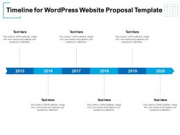 Timeline For WordPress Website Proposal Template Ppt Powerpoint Presentation Pictures