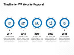 Timeline For WP Website Proposal Ppt Powerpoint Presentation Introduction