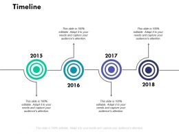 Timeline Four Year Process Ppt Powerpoint Presentation Outline Designs Download