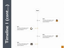 Timeline Four Year Process Ppt Powerpoint Presentation Outline Influencers