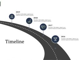 Timeline Four Years Roadmap F308 Ppt Powerpoint Presentation Summary Example