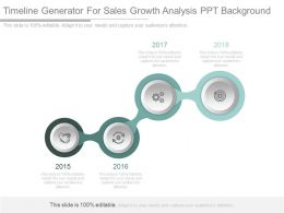 Timeline Generator For Sales Growth Analysis Ppt Background