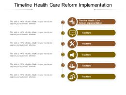 Timeline Health Care Reform Implementation Ppt Infographic Template Infographic Cpb