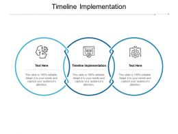 Timeline Implementation Ppt Powerpoint Presentation Summary Example File Cpb
