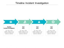 Timeline Incident Investigation Ppt Powerpoint Presentation Themes Cpb