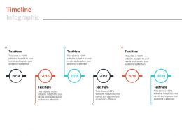 Timeline Infographic 2014 To 2019 L588 Ppt Powerpoint Presentation Inspiration Sample