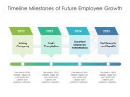 Timeline Milestones Of Future Employee Growth
