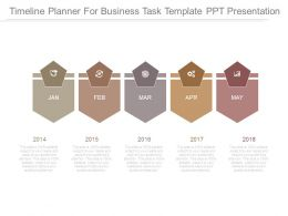 Timeline Planner For Business Task Template Ppt Presentation