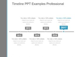 Timeline Ppt Examples Professional
