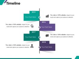 Timeline Ppt Summary Gridlines