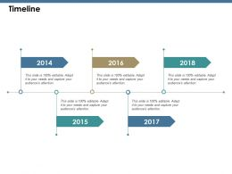 Timeline Ppt Summary Infographic Template