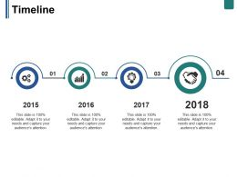 Timeline Ppt Summary Slide Download