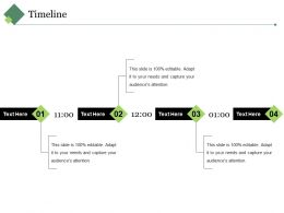 Timeline Ppt Visual Aids Outline
