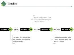 Timeline Ppt Visual Aids Outline