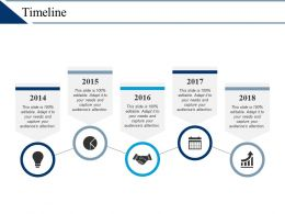 Timeline Process Five Years F478 Ppt Infographic Template Diagrams Slides