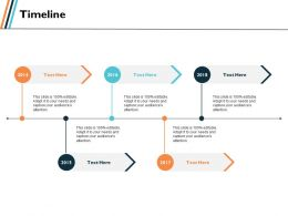 Timeline Process Management Ppt Slides Graphics Template