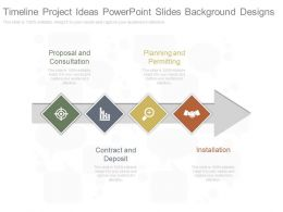 Timeline Project Ideas Powerpoint Slides Background Designs
