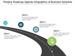 Timeline Roadmap Agenda Infographics Of Business Schedule