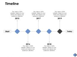 Timeline Roadmap Five Years D188 Ppt Powerpoint Presentation Ideas Outline
