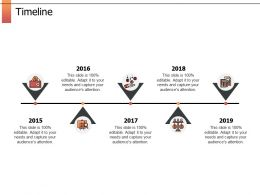 Timeline Roadmap Five Years F752 Ppt Powerpoint Presentation Icon Outline