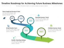 Timeline Roadmap For Achieving Future Business Milestones