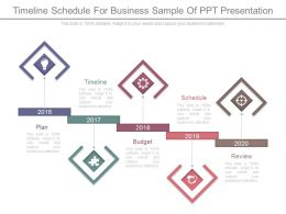Timeline Schedule For Business Sample Of Ppt Presentation