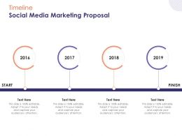 Timeline Social Media Marketing Proposal Ppt Powerpoint Presentation Outline Summary