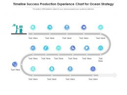 Timeline Success Production Experience Chart For Ocean Strategy Infographic Template