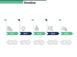 Timeline Target Achievement 2016 To 2020 N10 Ppt Powerpoint Presentation Styles Master Slide