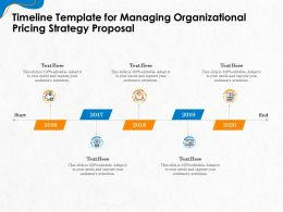 Timeline Template For Managing Organizational Pricing Strategy Proposal Ppt File Slides