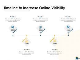 Timeline To Increase Online Visibility Ppt Powerpoint Presentation Visual Aids Icon