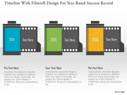 Timeline With Filmroll Design For Year Based Success Record Flat Powerpoint Design