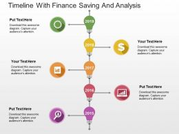 Timeline With Finance Saving And Analysis Flat Powerpoint Design