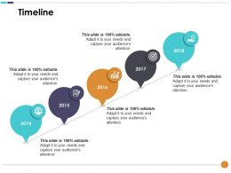 Timeline With Four Icons Compensation Plan Ppt Ideas Slideshow