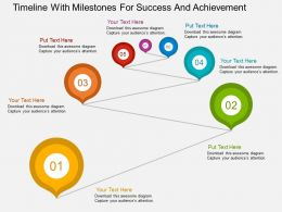 Timeline With Milestones For Success And Achievement Flat Powerpoint Design