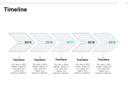 Timeline Year Roadmap I145 Ppt Powerpoint Presentation File Vector