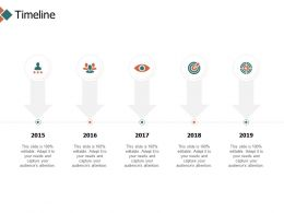 Timeline Years 2015 To 2019 Ppt Powerpoint Presentation Icon Templates