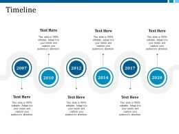 Timeline Years Example Presentation About Yourself Ppt Show Deck