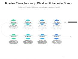 Timeline Years Roadmap Chart For Stakeholder Scrum Infographic Template