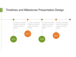 Timelines And Milestones Presentation Design