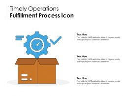 Timely Operations Fulfillment Process Icon