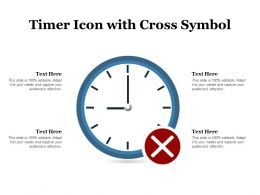 Timer Icon With Cross Symbol