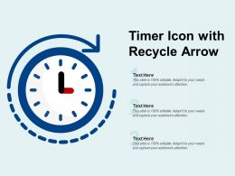 Timer Icon With Recycle Arrow