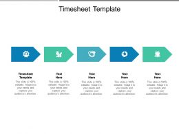 Timesheet Template Ppt Powerpoint Presentation Styles Topics Cpb