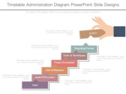 Timetable Administration Diagram Powerpoint Slide Designs